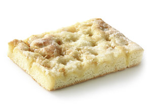 Sugared Cake - Pastry covered with butter and cream, decorated with sugar/ thaw only measures: length: 190 mm width: 135 mm height: 25 mm