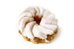 Ring with white topping - Pastry coated with fudge/ diameter: 7 cm
