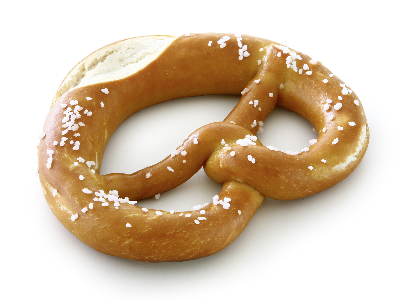 Pretzel with cut - Raw dough piece/ baked according to the Swabian style/ with separate salt for sprinkling/ with cut