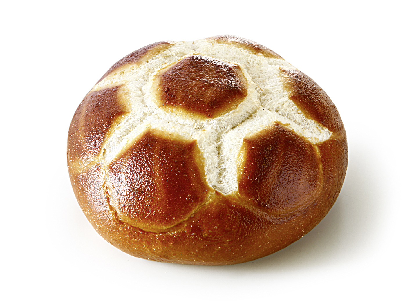 Pretzel-Football Roll - Lye bakery with soccer-stamp/ advice: to reach a better quality bake for 4 - 6 minutes at 190°C