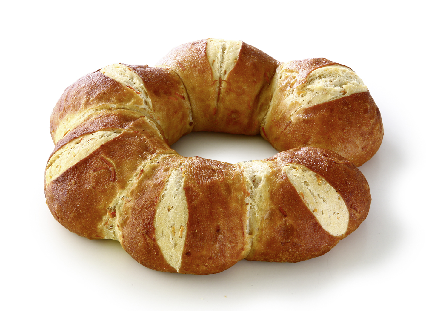 Lye crown carrot - Lye bakery product with 8% carrots/ suitable for vegetarians and a lactose free dict/ Diameter: 20cm