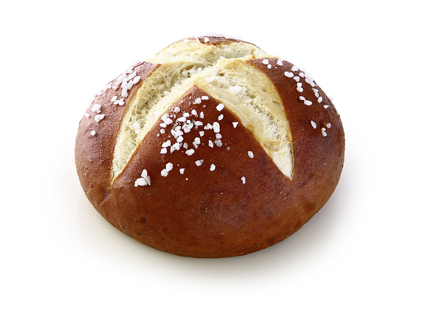 Soft Pretzel Roll with salt packaging - Round lye pastry with cross cut/ thaw only