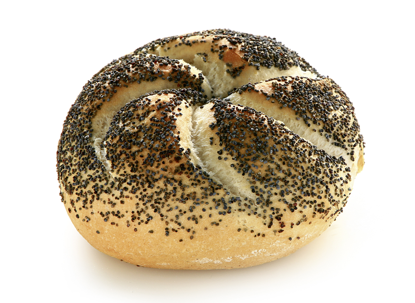 Kaiser Roll with Poppy Seeds - Wheat roll round/ with typical look and sprinkled with 2.9% poppy seeds