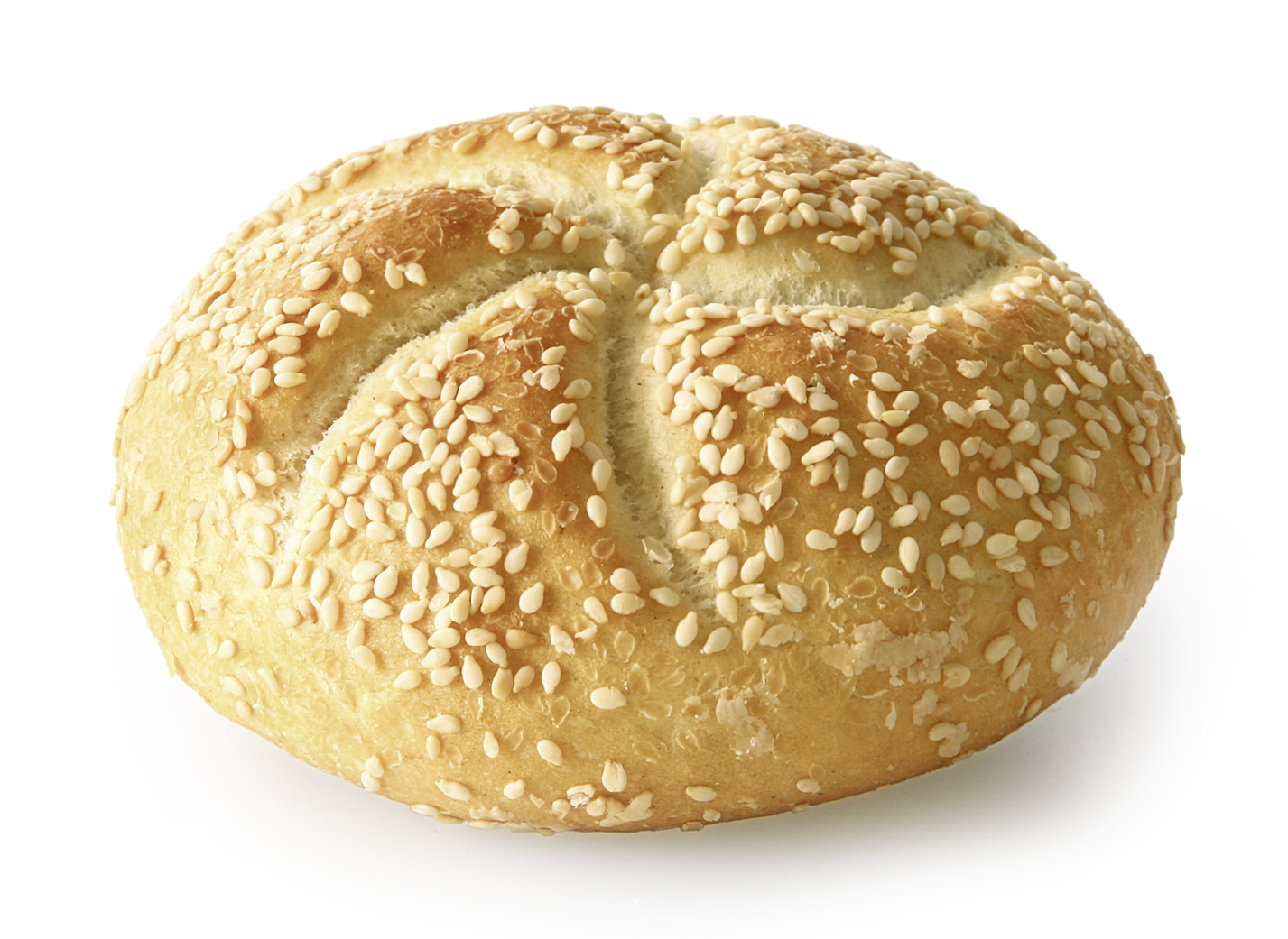 Kaiser Roll Sesame Seeds - Wheat roll round/ with typical look and sprinkled with 2.9% sesame