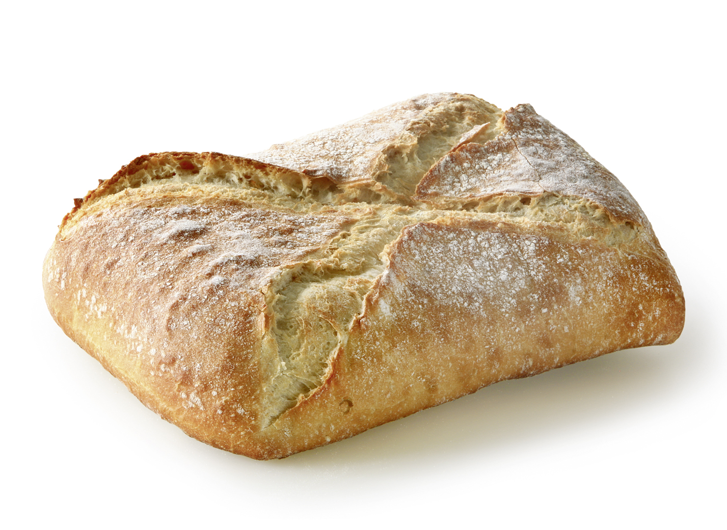 Pane Bianco - Wheat bread in square form with distinctive cross cut measure: approx. 24 x 17 cm