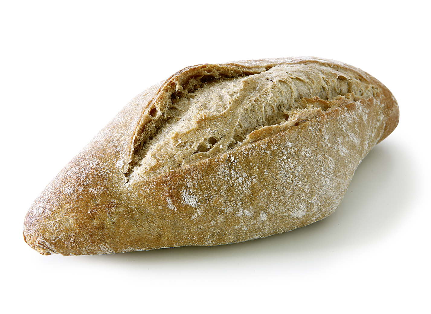 Tuscan Roll Rye - Rye roll with 32% rye flour/ shape and size may vary due to the rustic character/ with pointed ends length: approx. 18.5 cm