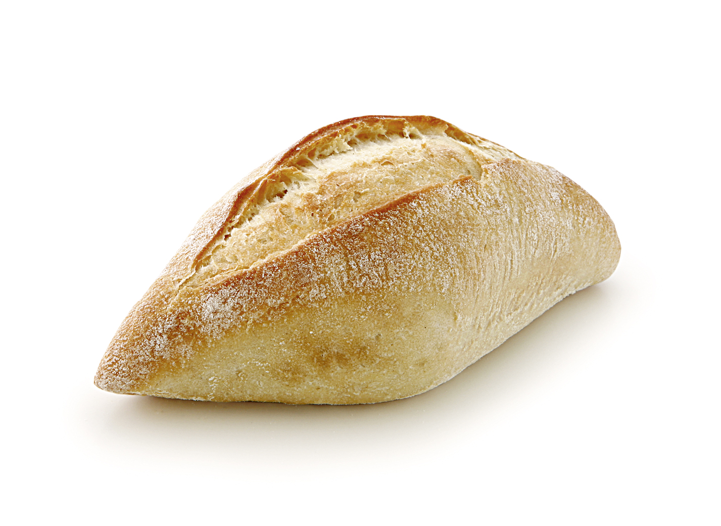 Tuscan Roll - Small wheat bakery/ shape and size may vary due to the rustic character/ with pointed ends length: approx. 13 cm