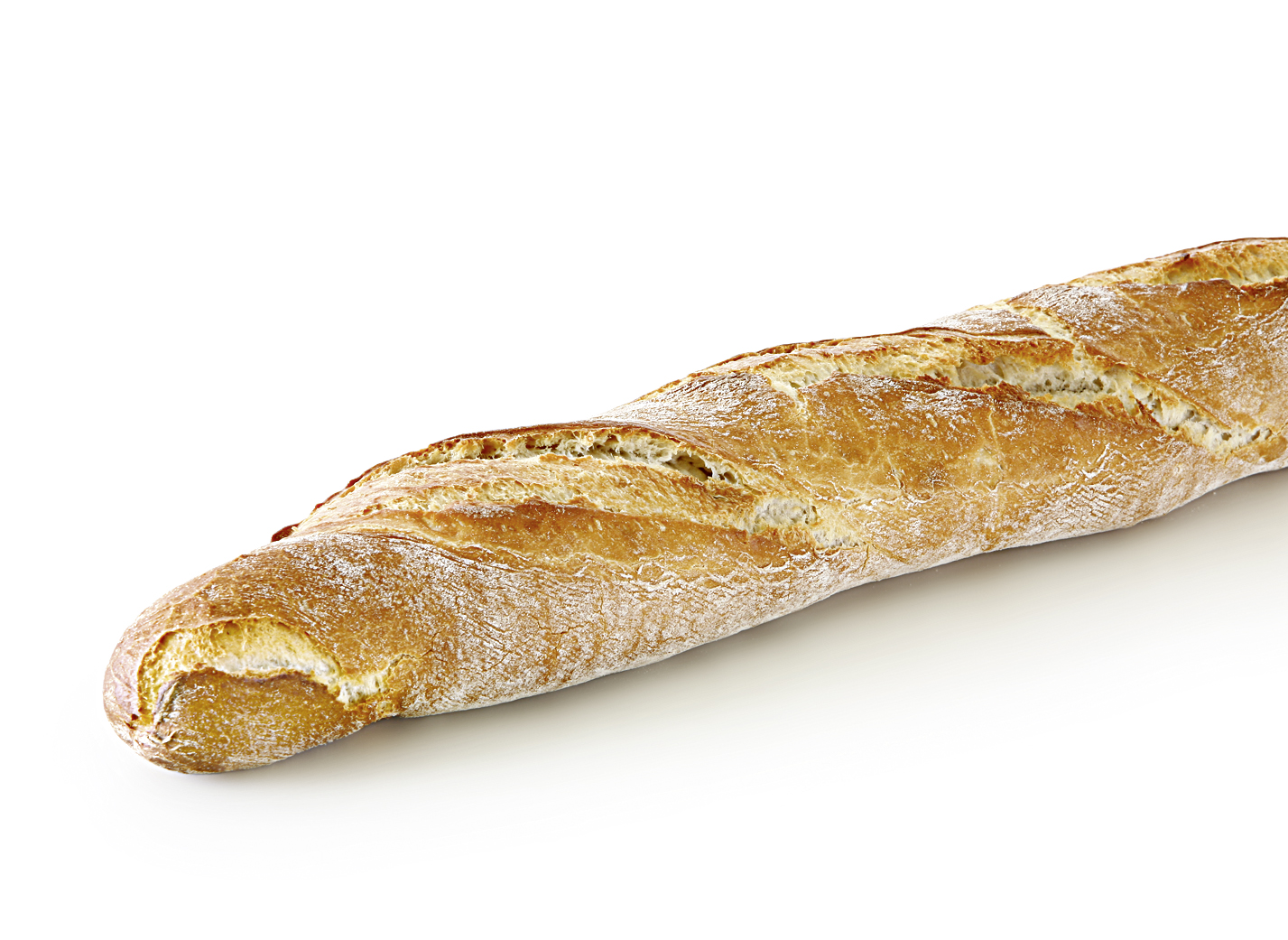 Pane Rustico - Rustic wheat bread with three diagonal cuts and pointed ends length: 54.5 cm