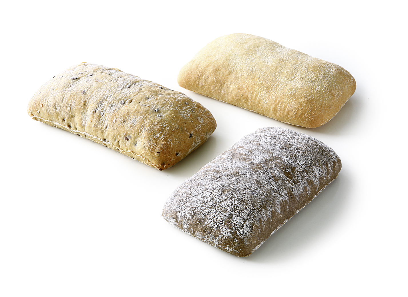 Ciabatta Mix - Mix of the varieties: wheat roll, rye roll and buttermilk roll