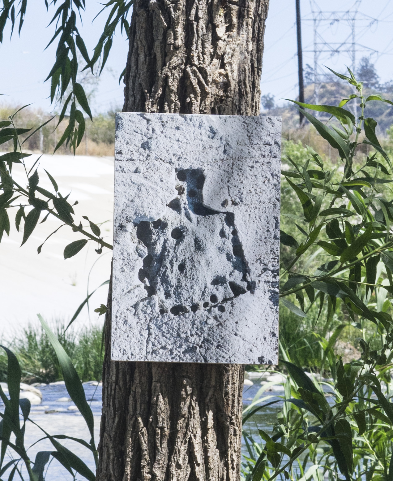 Install at the river. Ink-jet print mounted to MDF