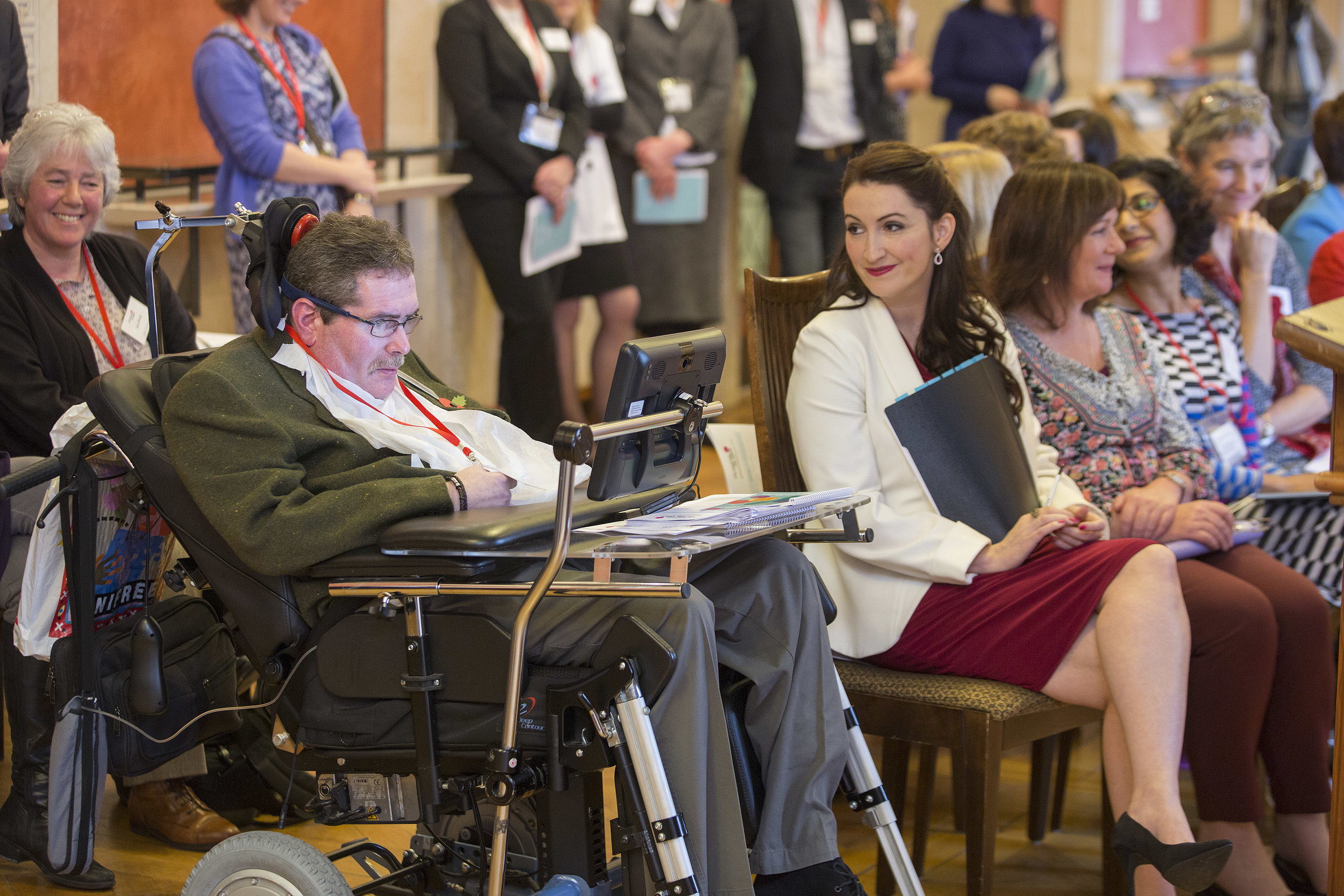 Neill at the Stormont launch of My Journey My Voice November 2015 with the then Junior Minister, Emma Little-Pengelly MP.