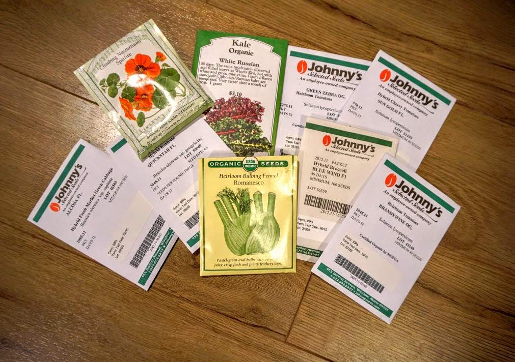 A selection of my spring seeds.