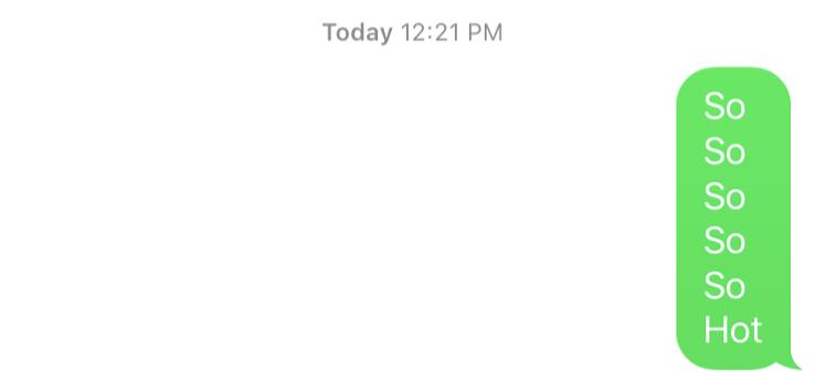 Such depth of conversation.