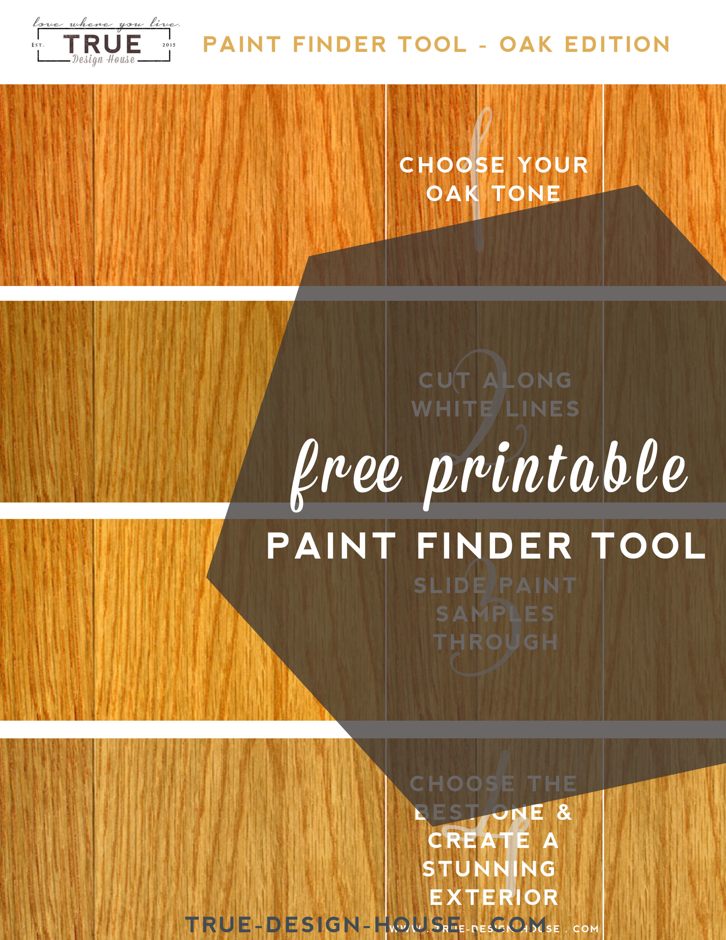 paint finder tool - honey oak - True Design House