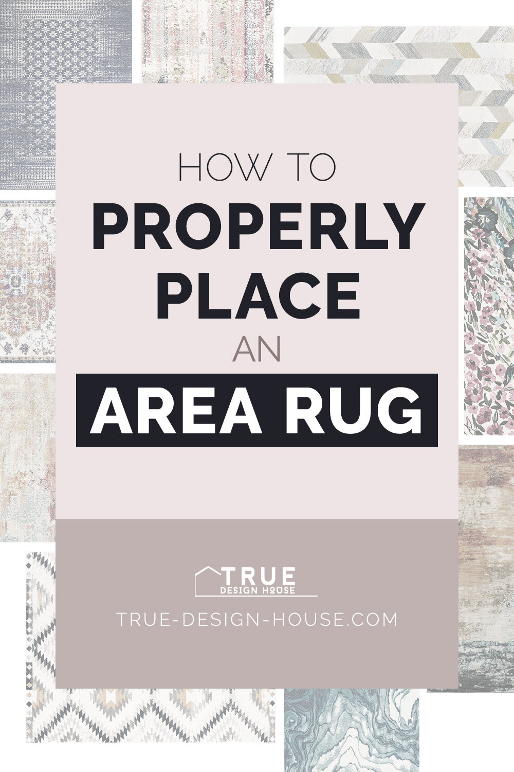 Picture of: How To Properly Place An Area Rug True Design House