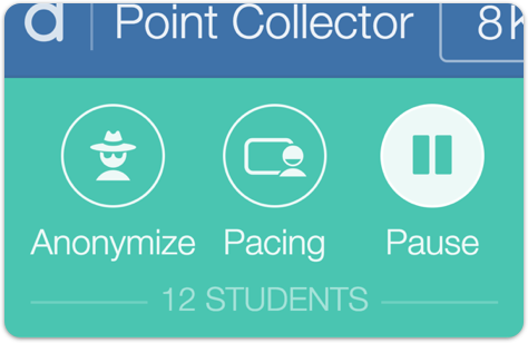 Image of the teacher dashboard showing the pause button activated.
