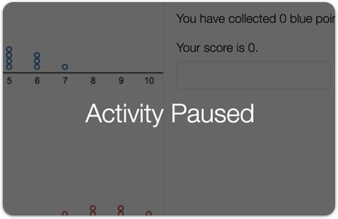 Image of a student screen with pause activated.
