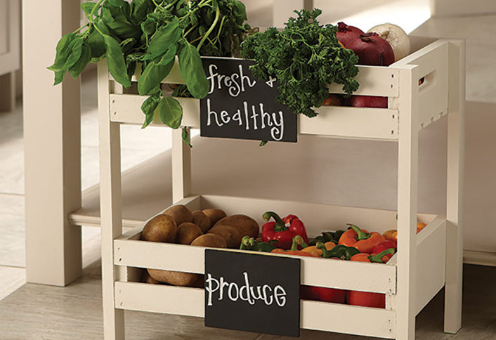 Instructions and photography for the Vegetable Stand is a Do-It-Herself Project from The Home Depot