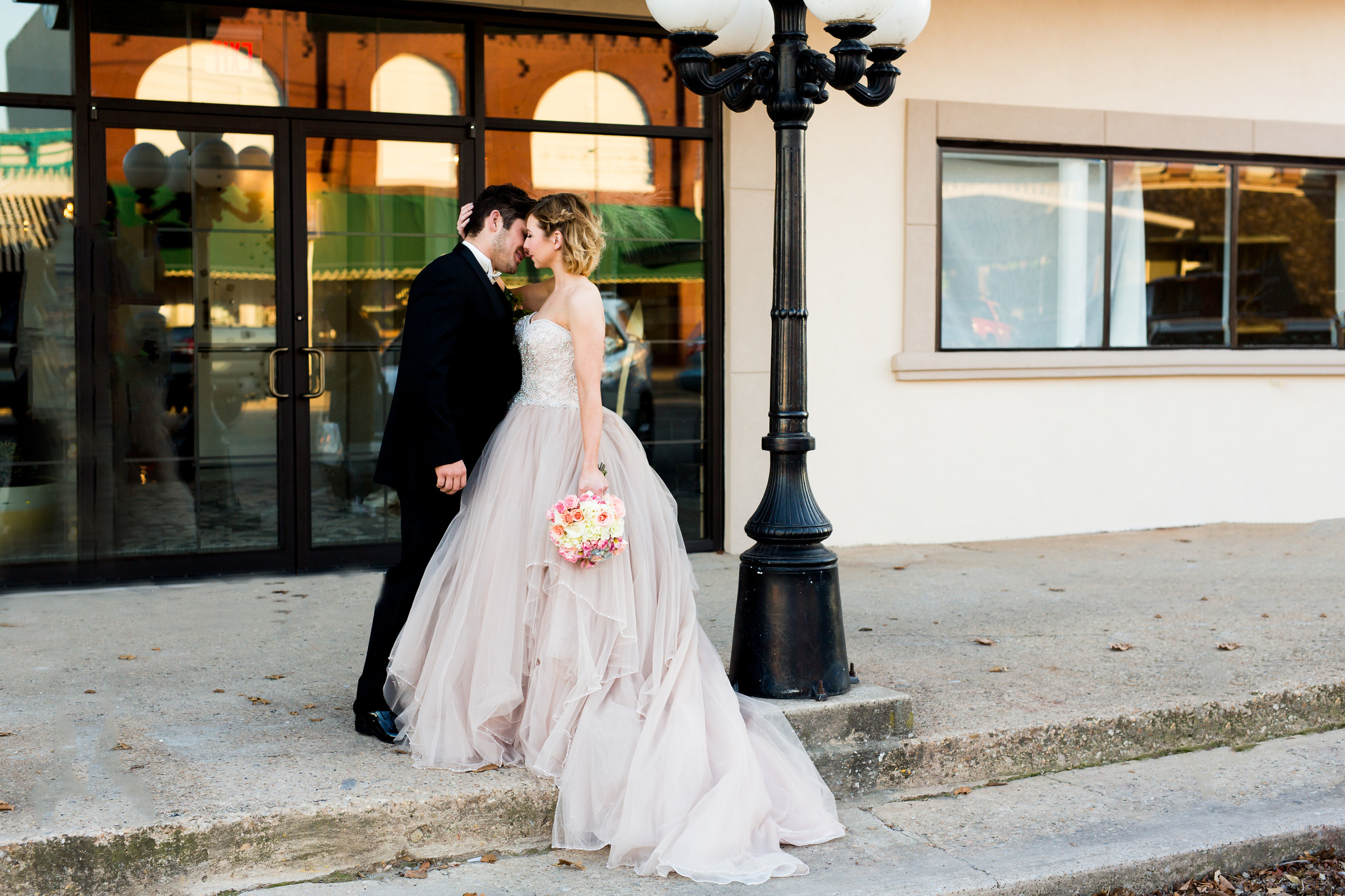 The Grand Canadian Theater OKC Purcell Wedding Venue Ashley Porton Photography Lamppost