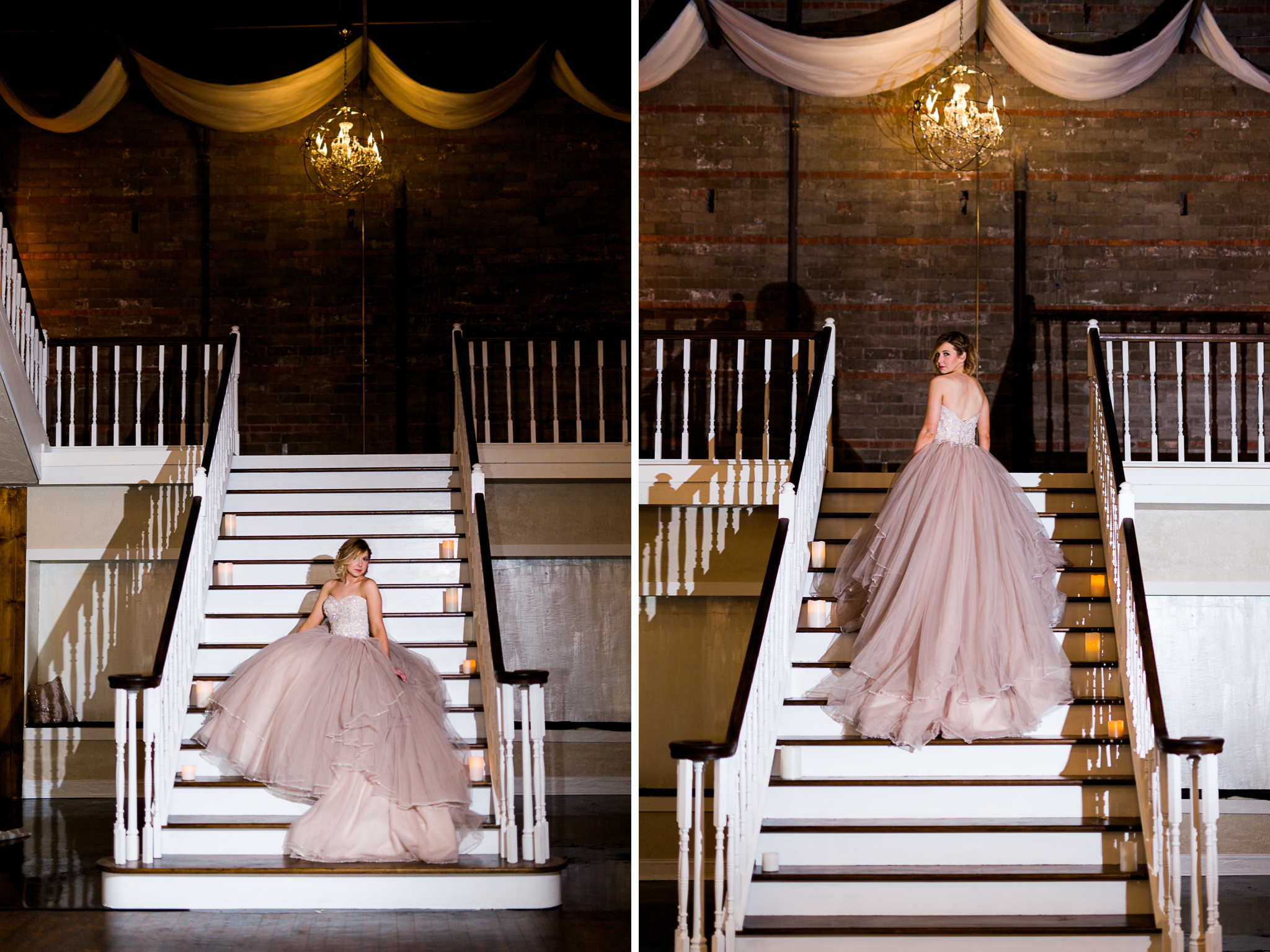 The Grand Canadian Theater OKC Purcell Wedding Venue Ashley Porton Photography justin alexander blush gown moliere bridal.jpg