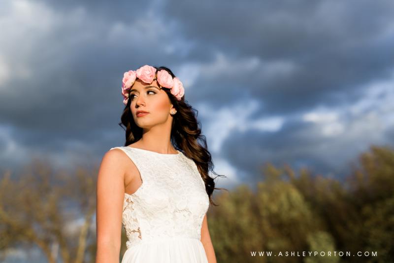 Oklahoma Senior Photographer Sutton Wilderness Fall Plaid Best Senior Portrait Photographer storm clouds stormy skies floral headband
