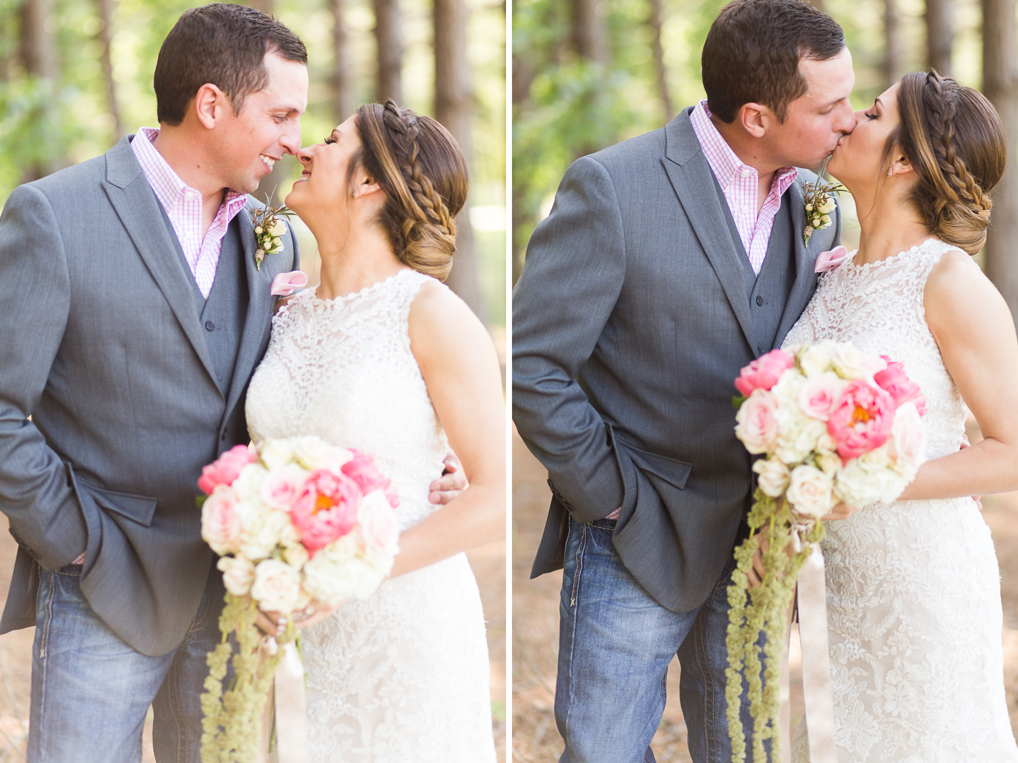 oklahoma wedding photographer pasture at willows ranch broken bow bride and groom couples portraits