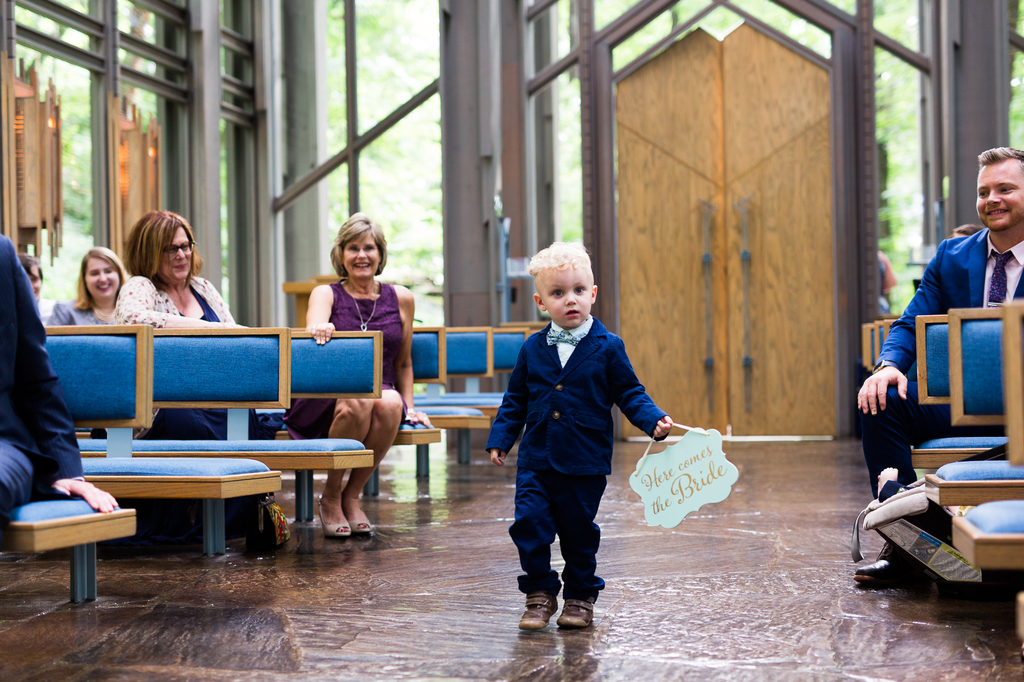 eureka springs wedding photographer thorncrown chapel ring bearer here comes the bride