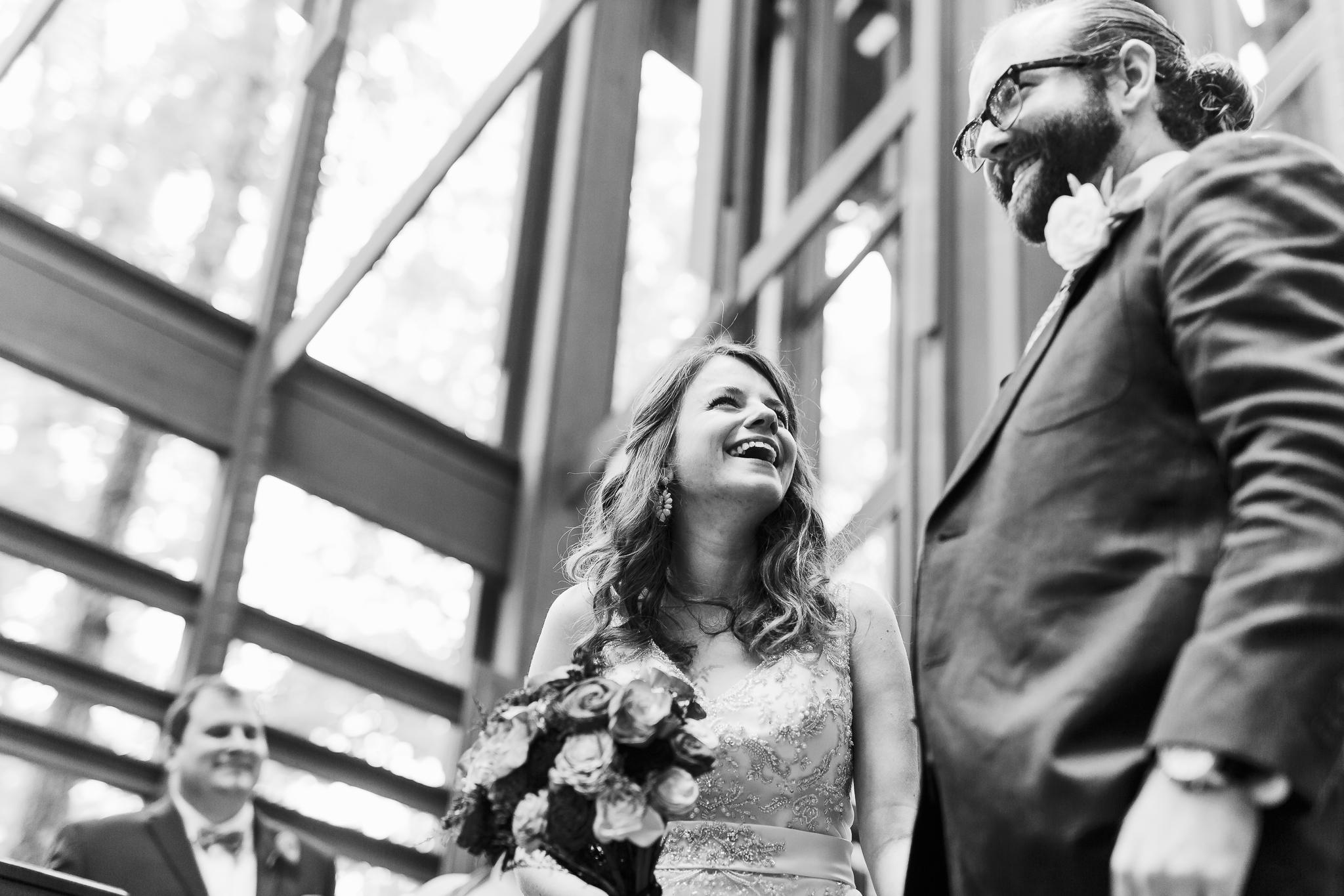 eureka springs wedding photographer thorncrown chapel happy laughter
