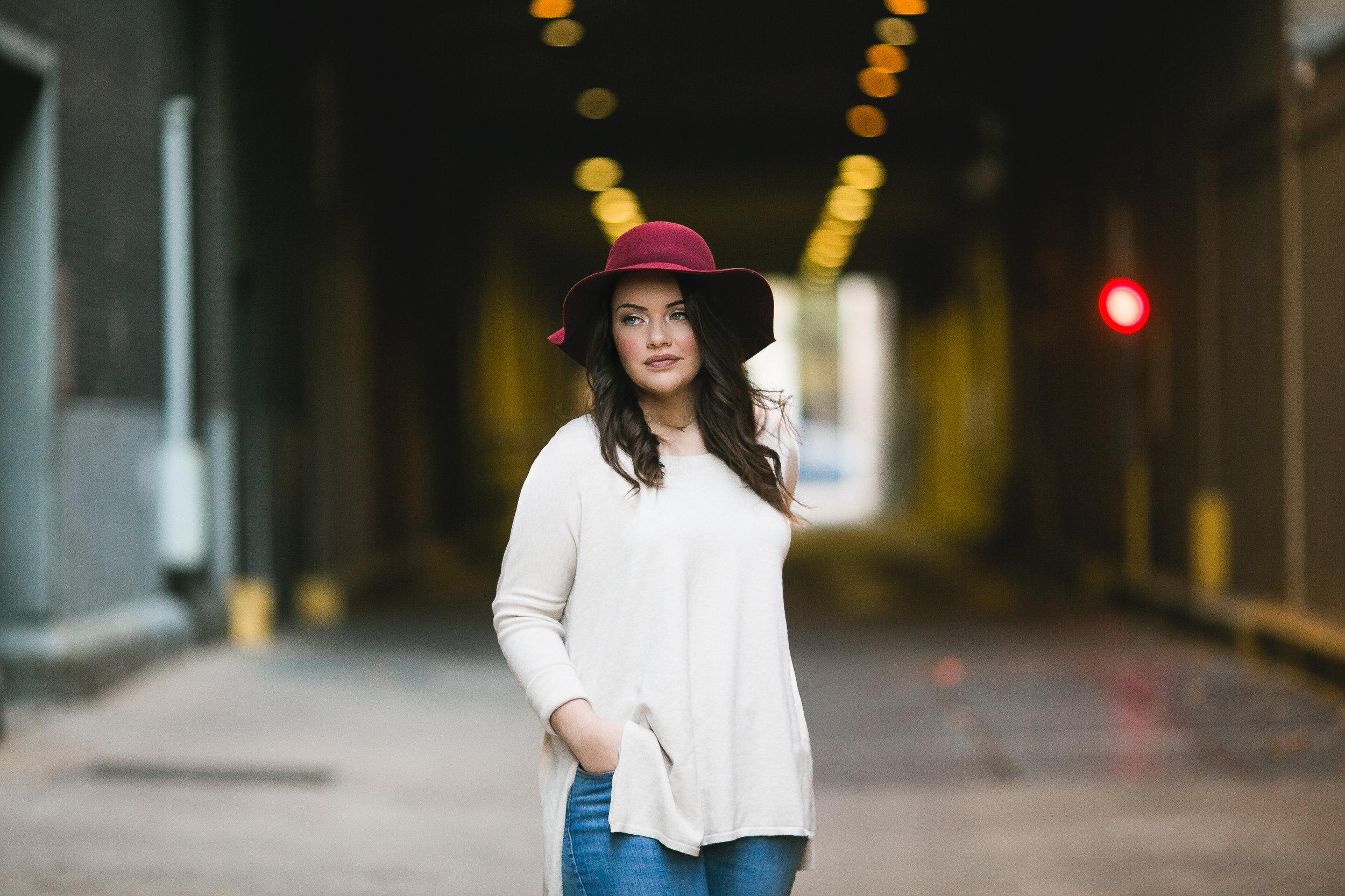 norman senior photographer sulphur senior session downtown okc oklahoma city session hat