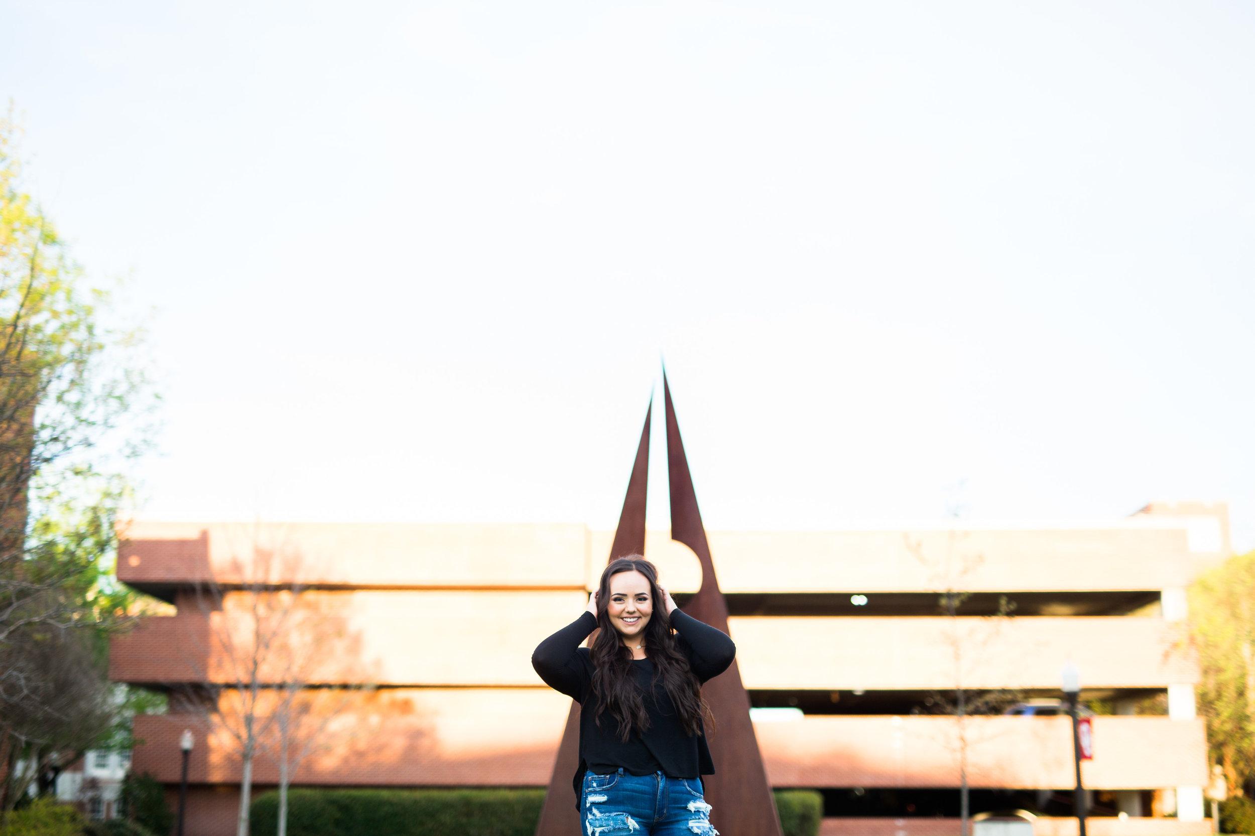 norman senior photographer okc oklahoma city graham texas university of oklahoma campus senior session