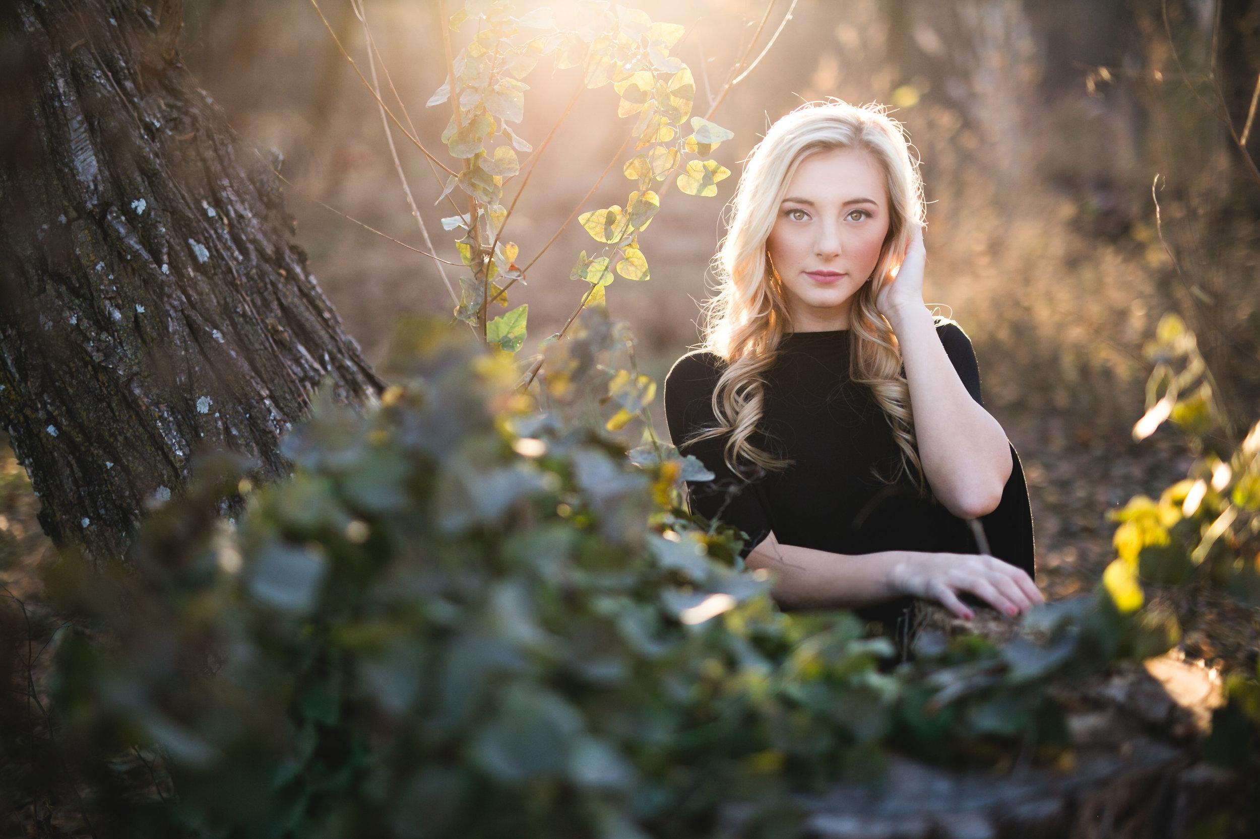 oklahoma senior photographer norman washington high school fairy ivy vines