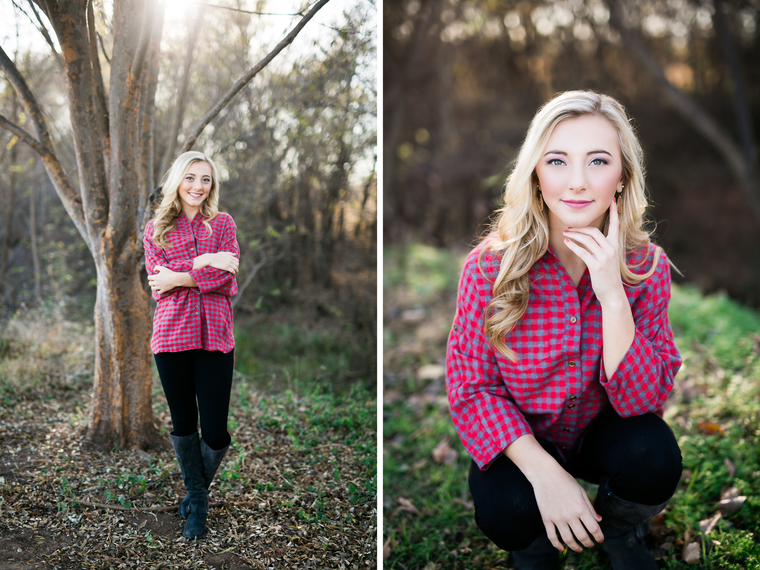 oklahoma senior photographer norman washington high school plaid