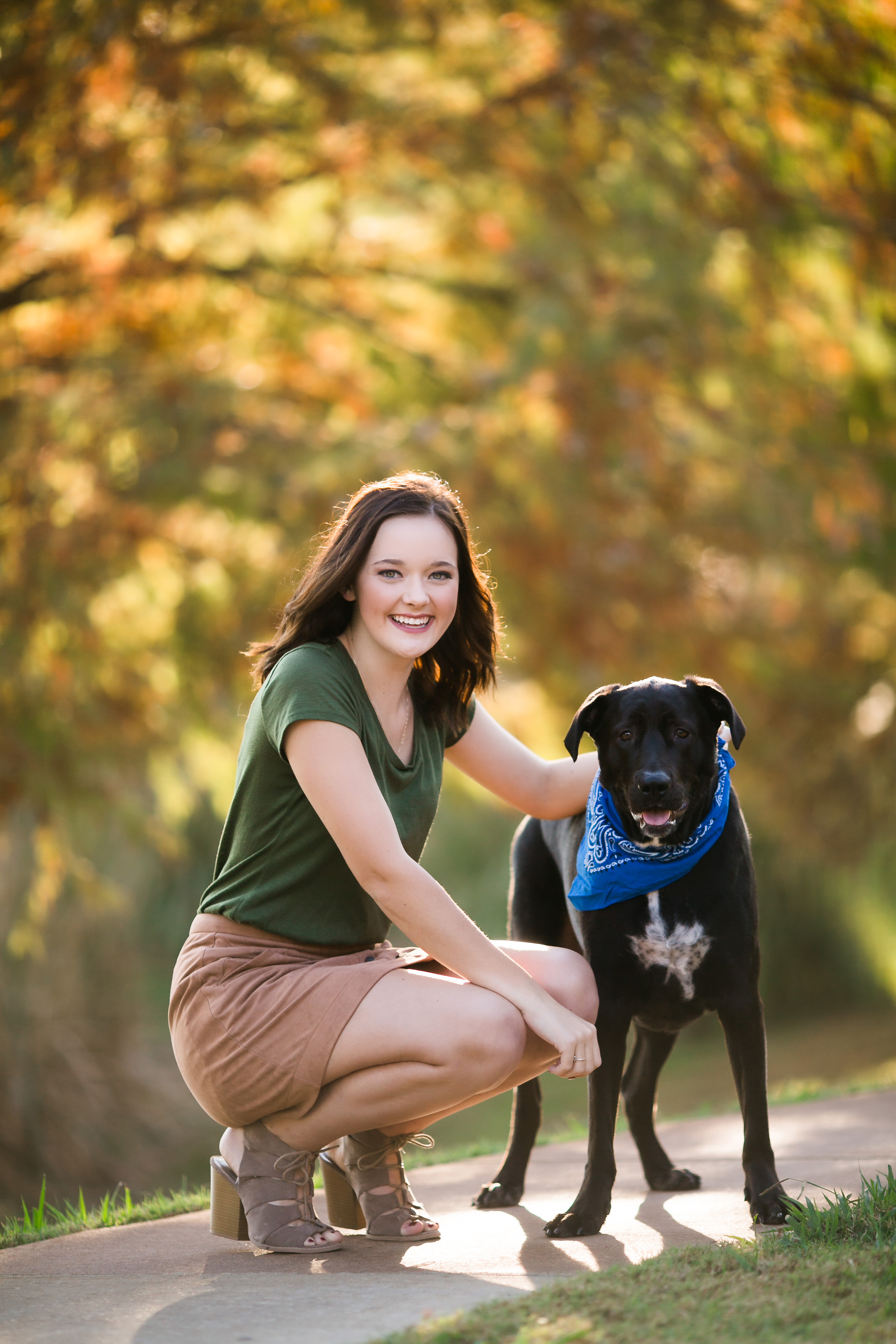 oklahoma senior photographer fall dog norman sunshine enid oklahoma bible academy