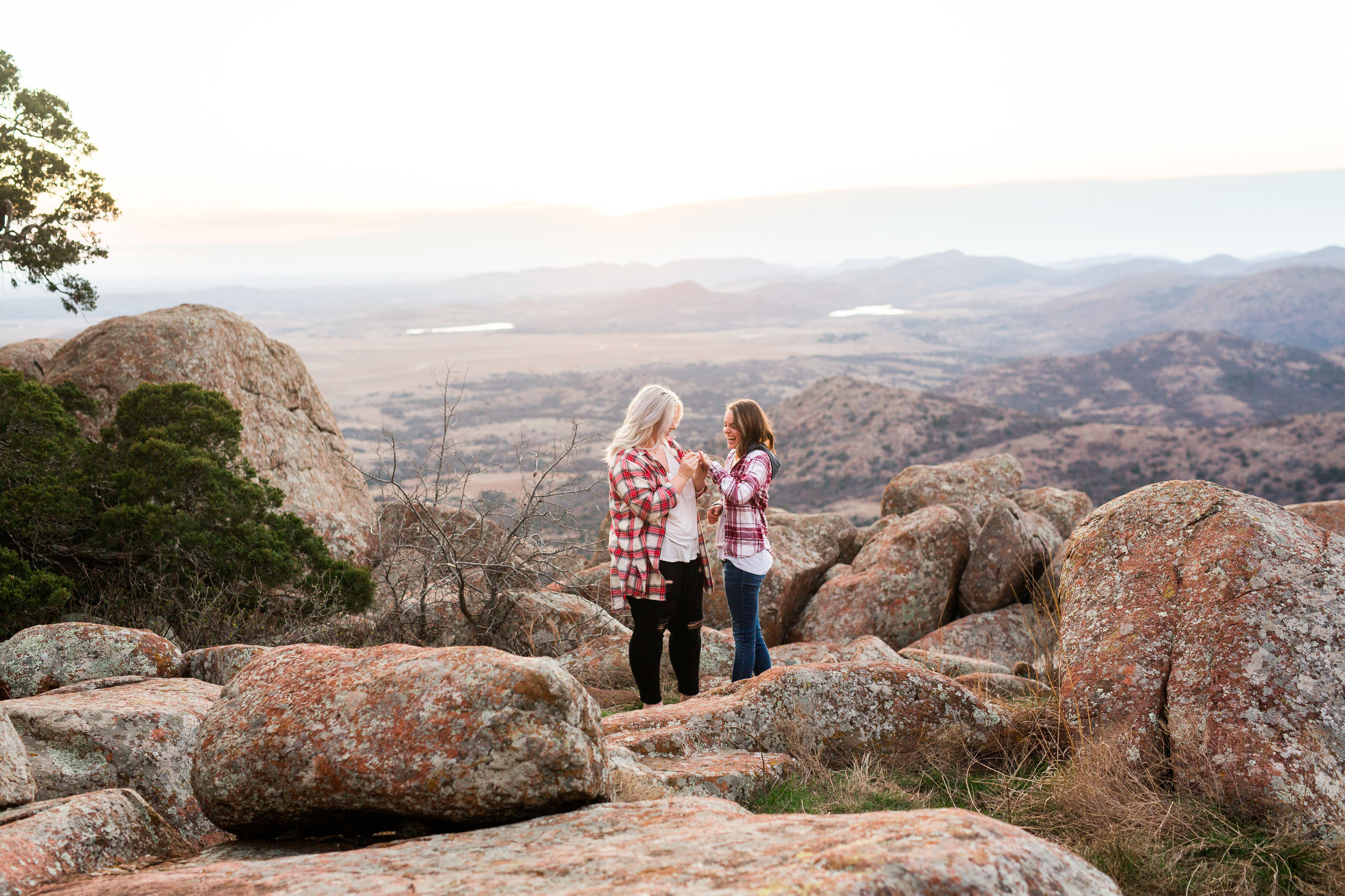 okc wedding photographer, oklahoma city, oklahoma weddings, norman, lgbt friendly, gay proposal, mountain proposal, wichita mountains, mt scott proposal, brides
