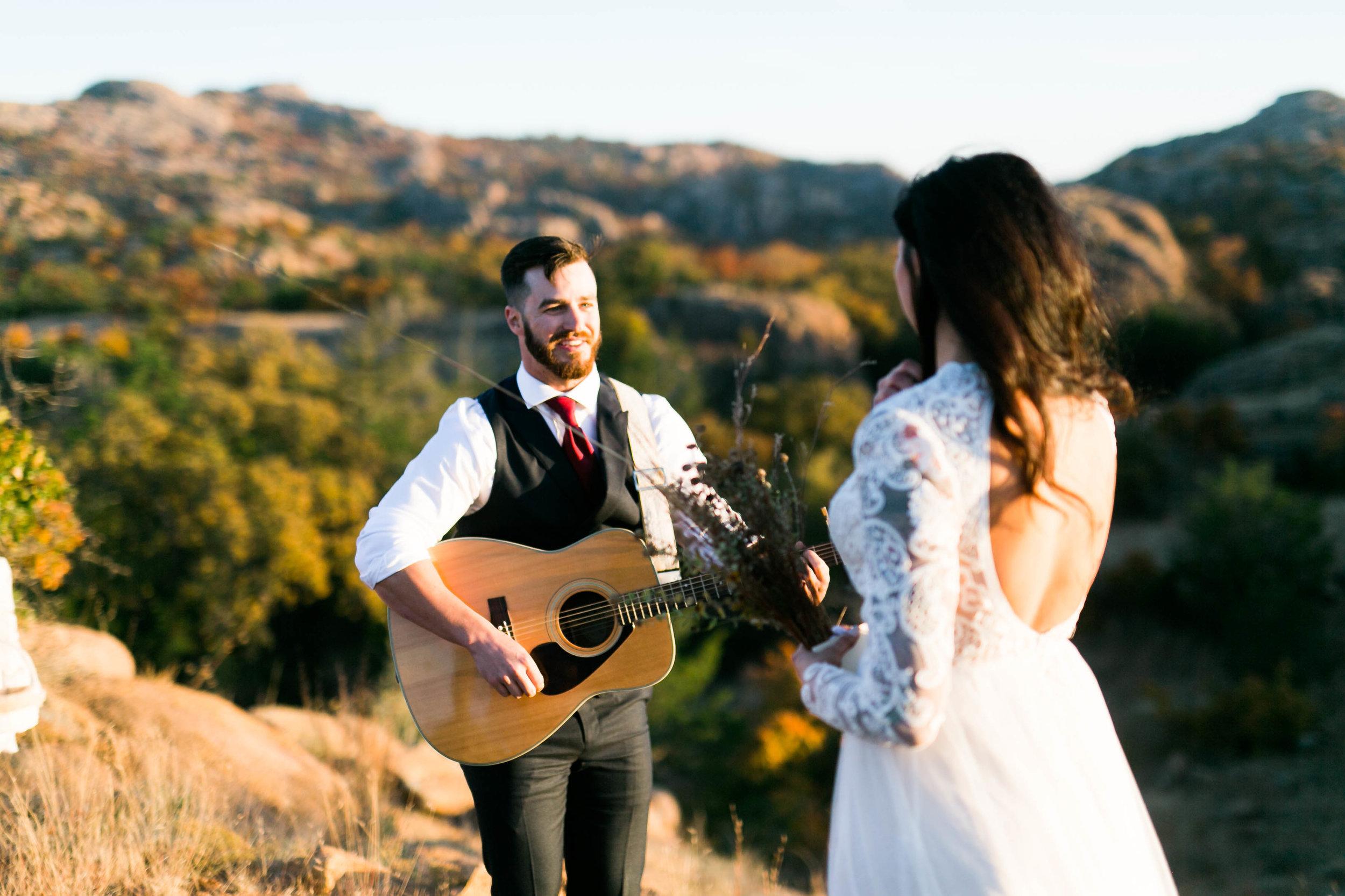 wedding photographer norman oklahoma wichita mountains modern