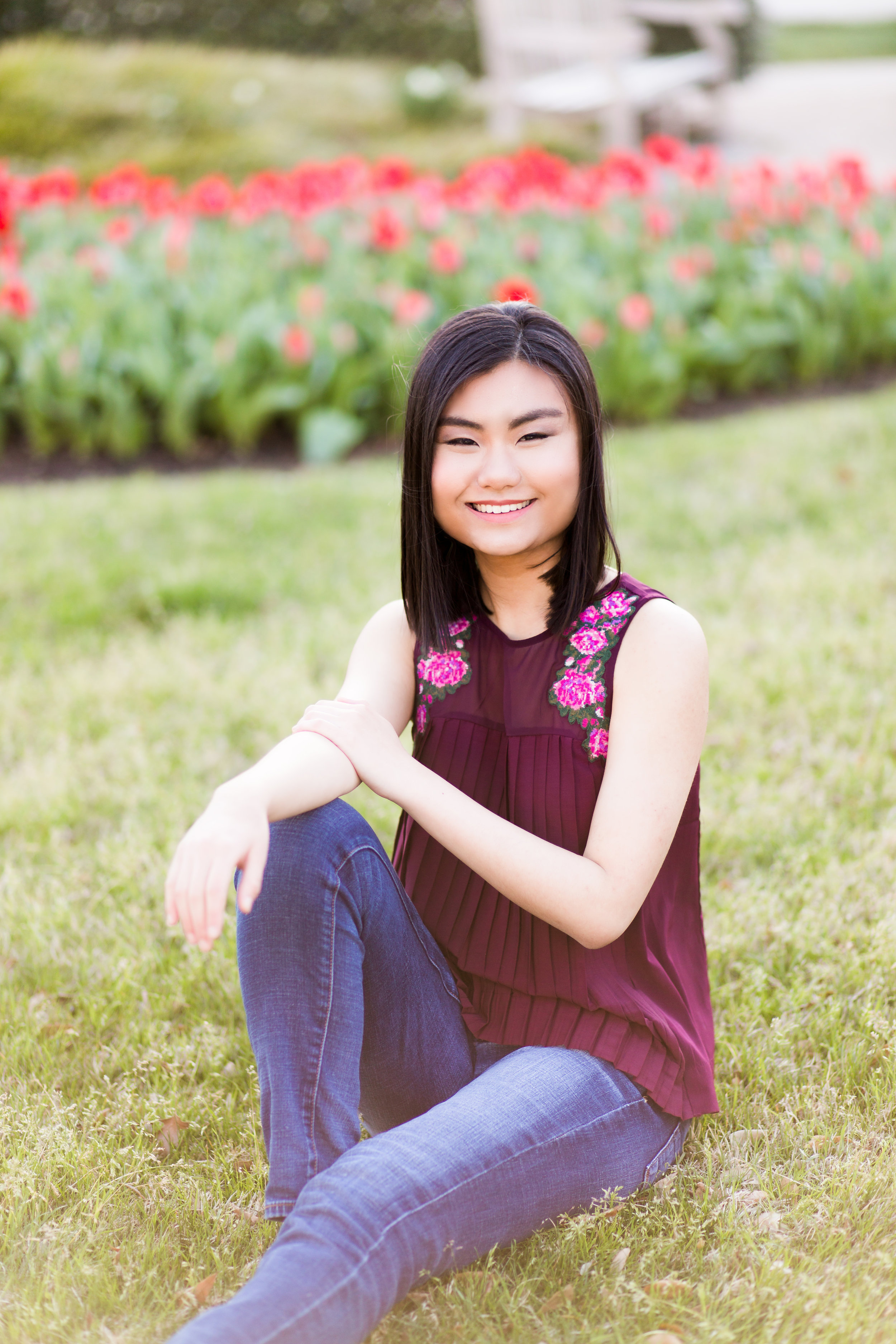 norman north senior photographer spring flowers oklahoma okc oklahoma city okc
