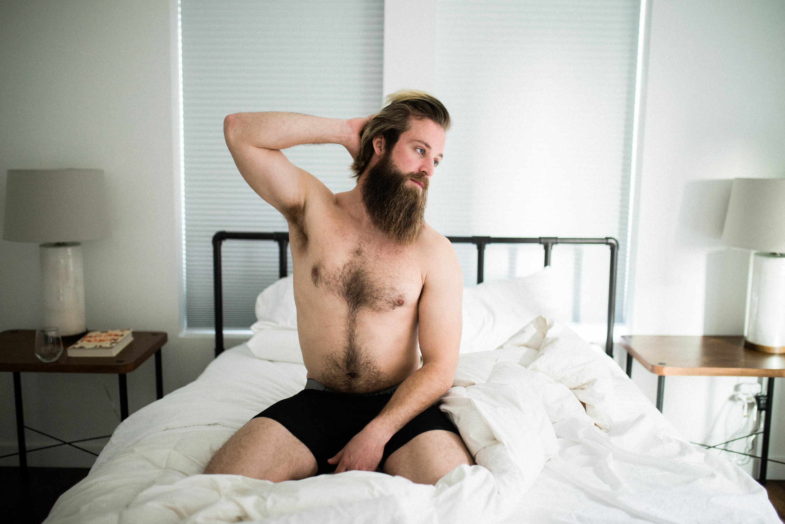 oklahoma boudoir photographer, okc boudoir photography, male boudoir, dudoir, sexy male photos, bathtub photos, bearded guy in bathtub, beard, hairy boy, cigarettes in bathtub, sexy