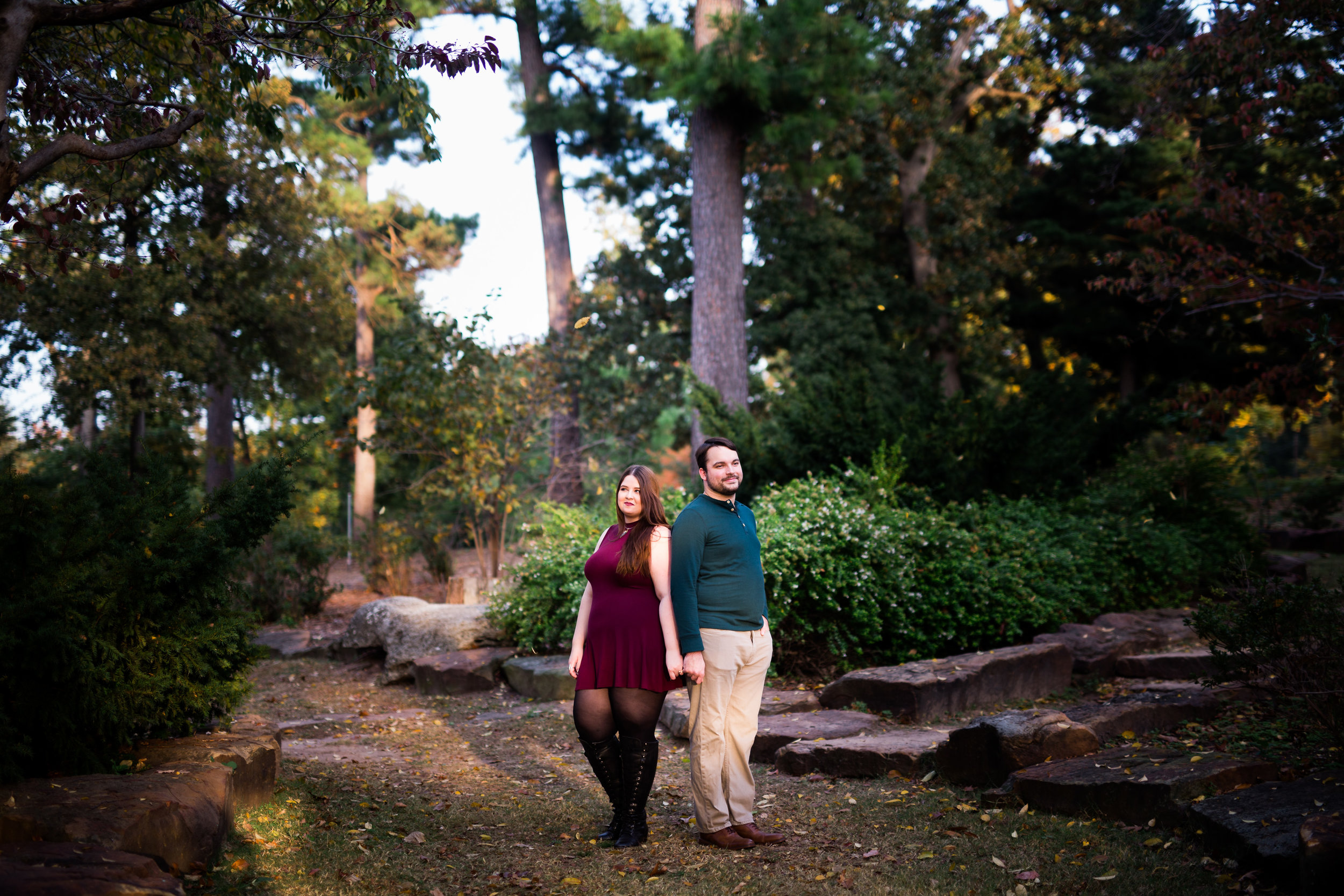 woodward park engagement fall engaged oklahoma tulsa norman orange trees leaves seasons sunset golden hour wedding photographer