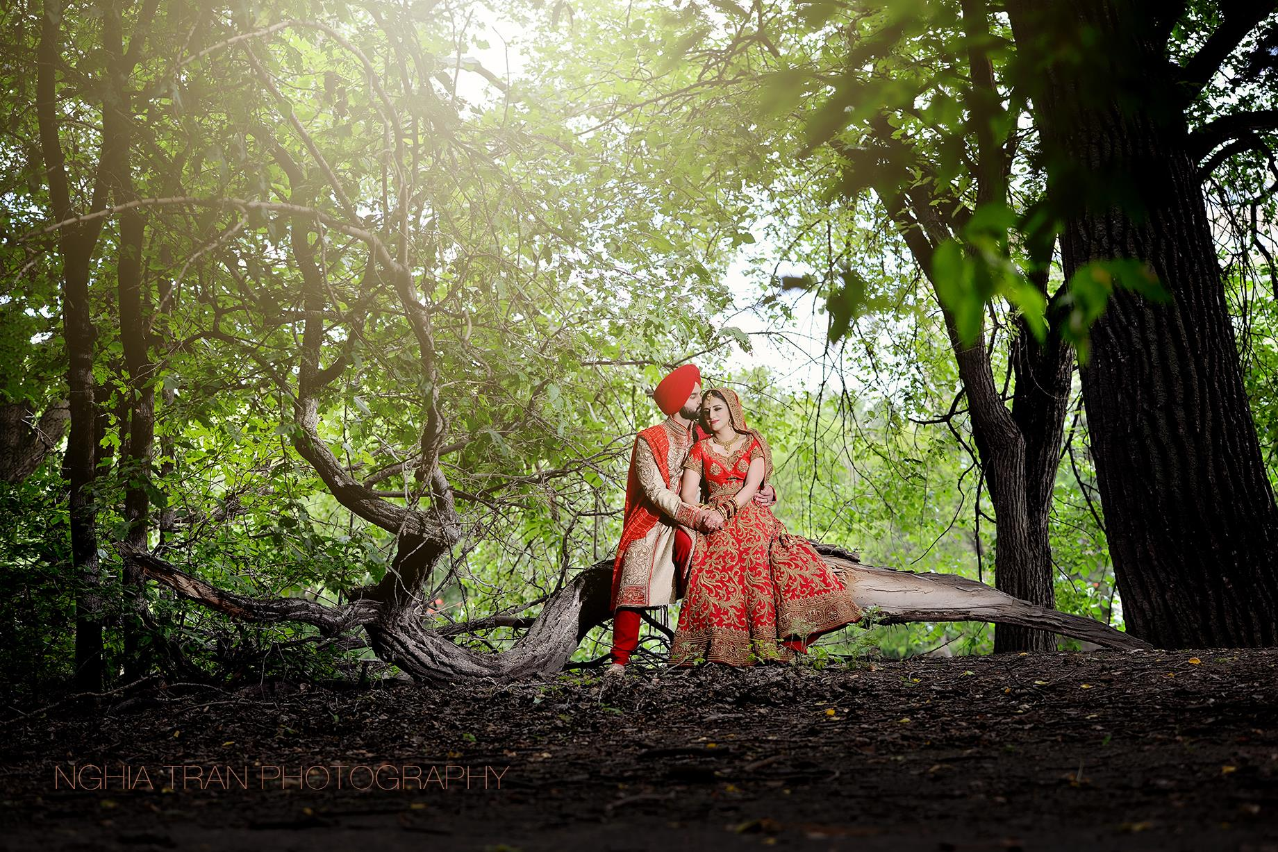 MAHARANI WEDDINGS - SIKH BRIDE     Sikh Bride - Jyoti    Photoraphy: Nghia Tran Photography, Hair: Krystle DeLeon, Makeup: Makeup Expressions, Mehendi: Hasina Mehendi & Body Art  Videography: Michael J. Scott Productions