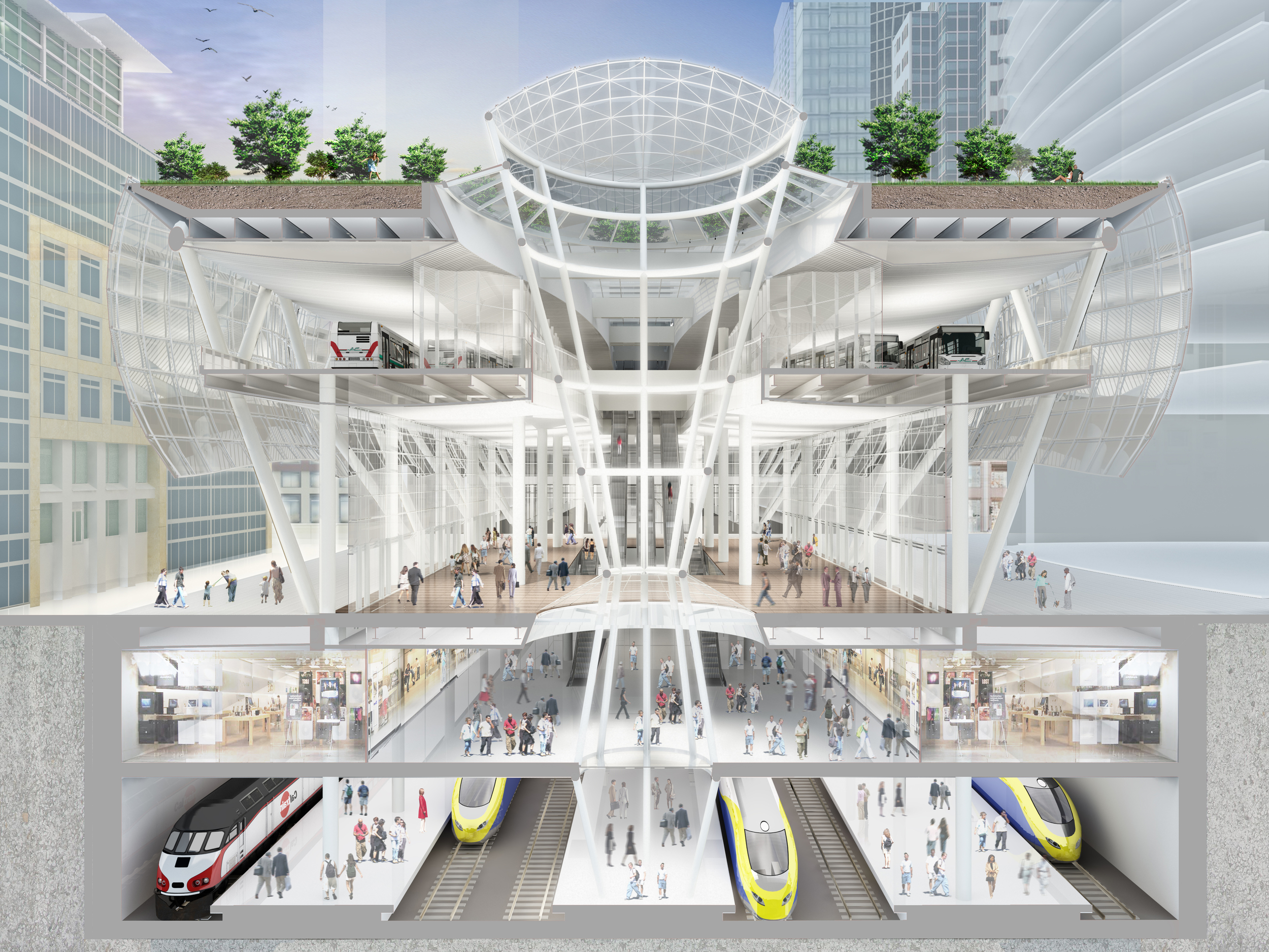 Transit Center Cross Section