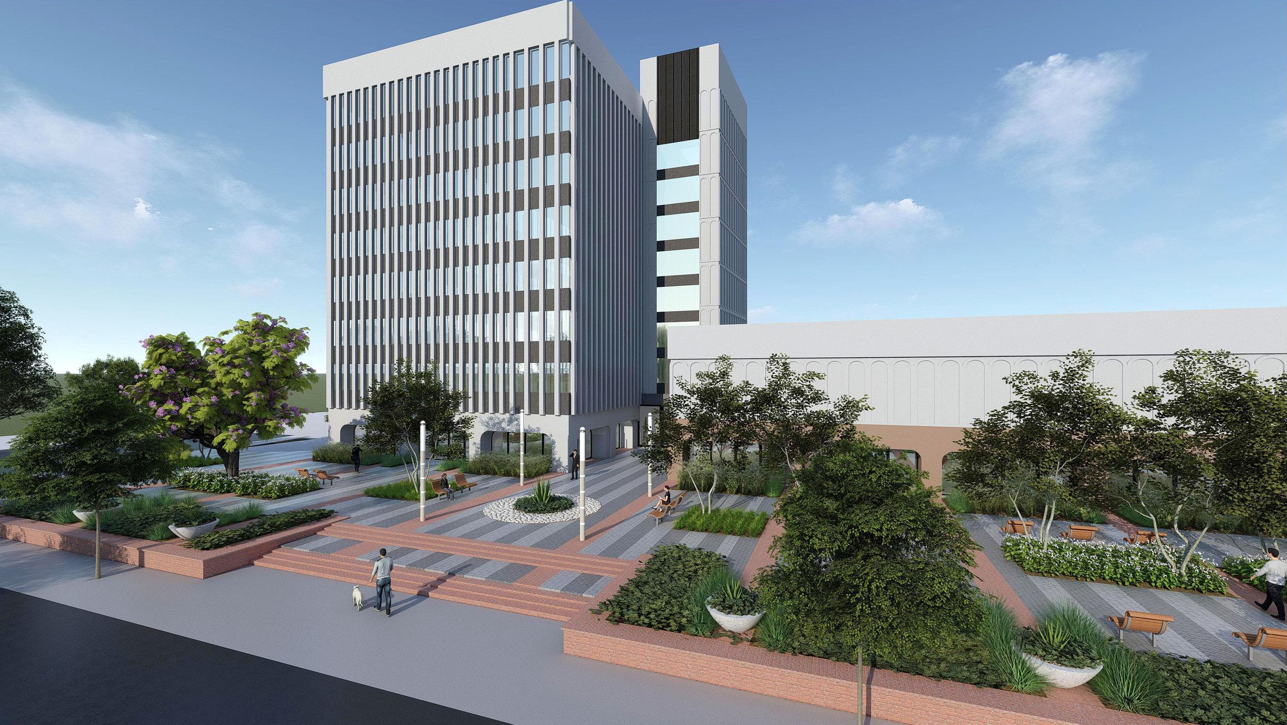 3D Rendering - Plaza View