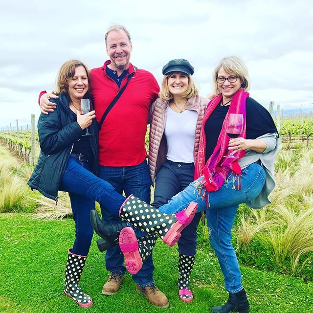 Friends who work, play and make wine together! Yay! . .  #grateful #celebrate #celebratelife #lifeisshort #friends #family #drink good #wines #winelover #winemakers #vineyard owners #entrepreneurs  #womeninbusiness #wine #redwine #whitewine #rosé #sauvignonblanc #malbec #instagood #instawine #tbt #cheers #salud