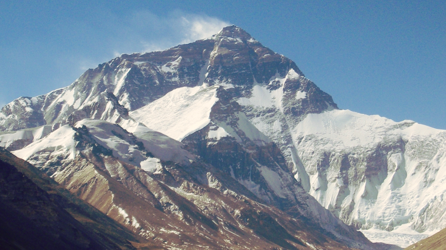 Everest from Everest Base Camp
