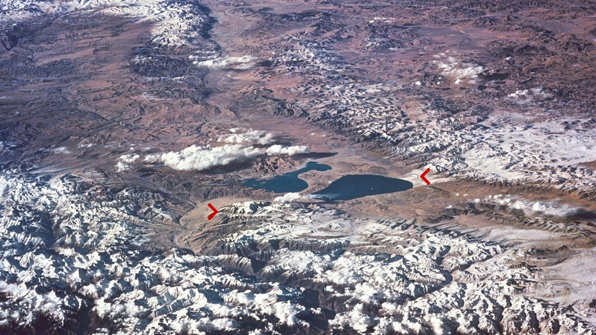 Kailash and Manasarovar Lake from Space
