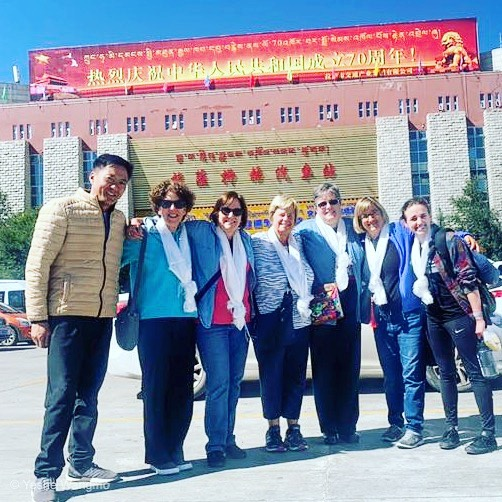 Bright sunny blue sky today to welcome six ladies arriving in Lhasa by train. Welcome to Tibet! You made it! #lhasa #traintotibet #traveltibet #roadtotibet #tibettravel #tibet