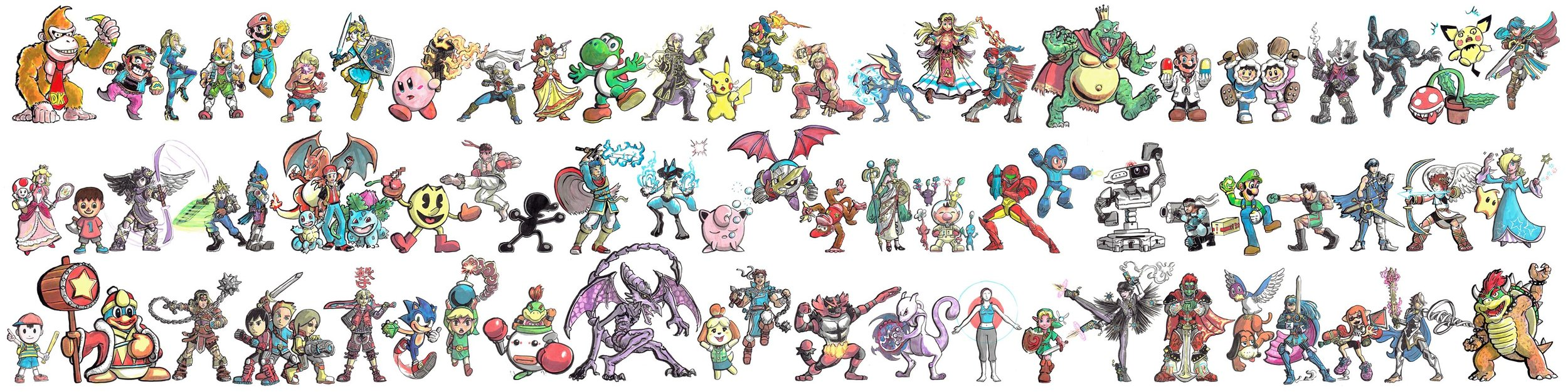 I decided to draw all the Characters of Super Smash Bros. Ultimate leading up to it's release!