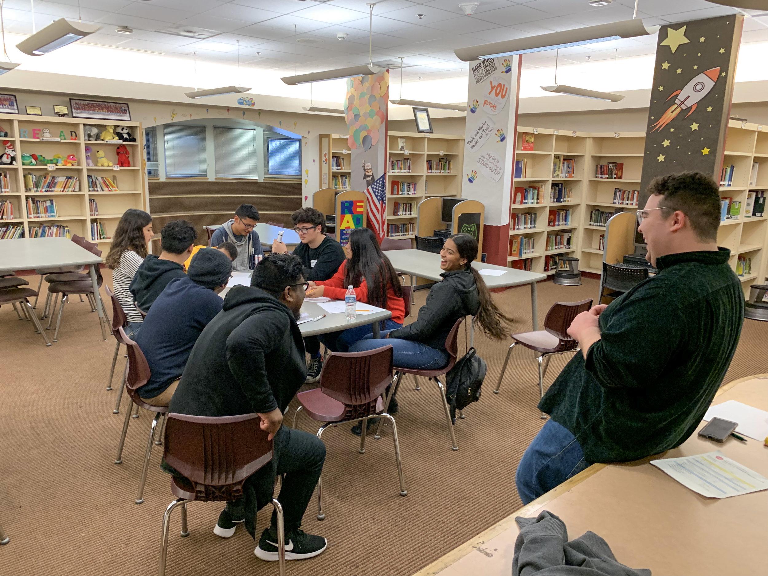 HP mentors from various neighborhoods across Los Angeles generating solutions
