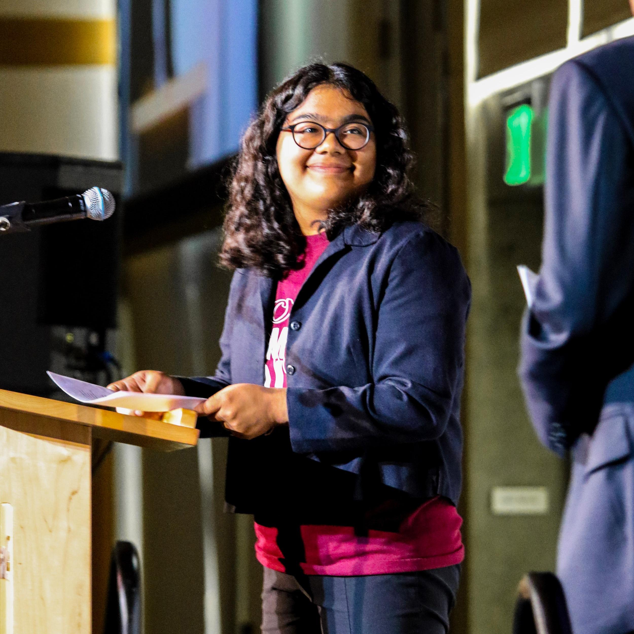 Scholarship recipient, Liliana Morales -