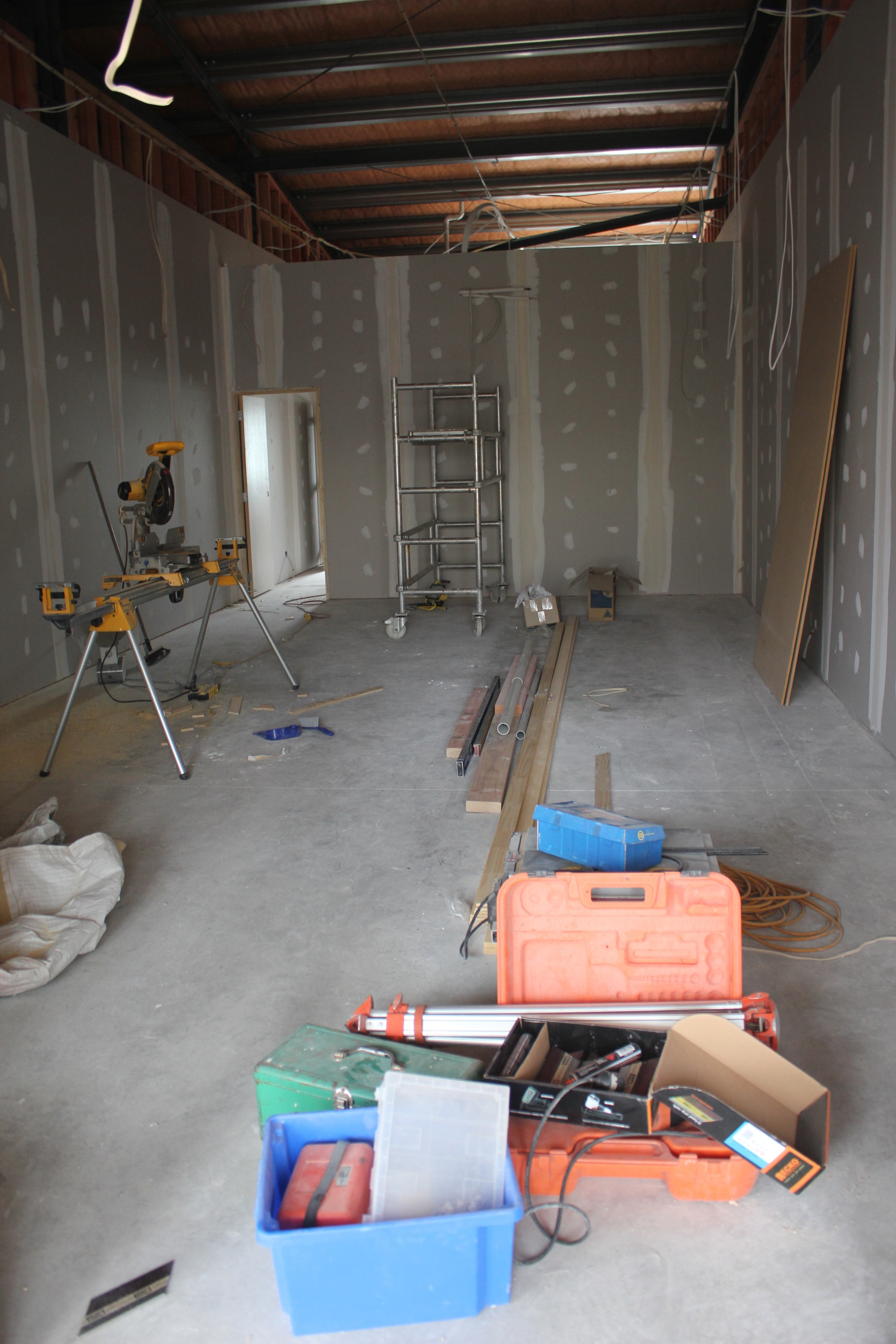 Walls are up and gib-stopping in progress