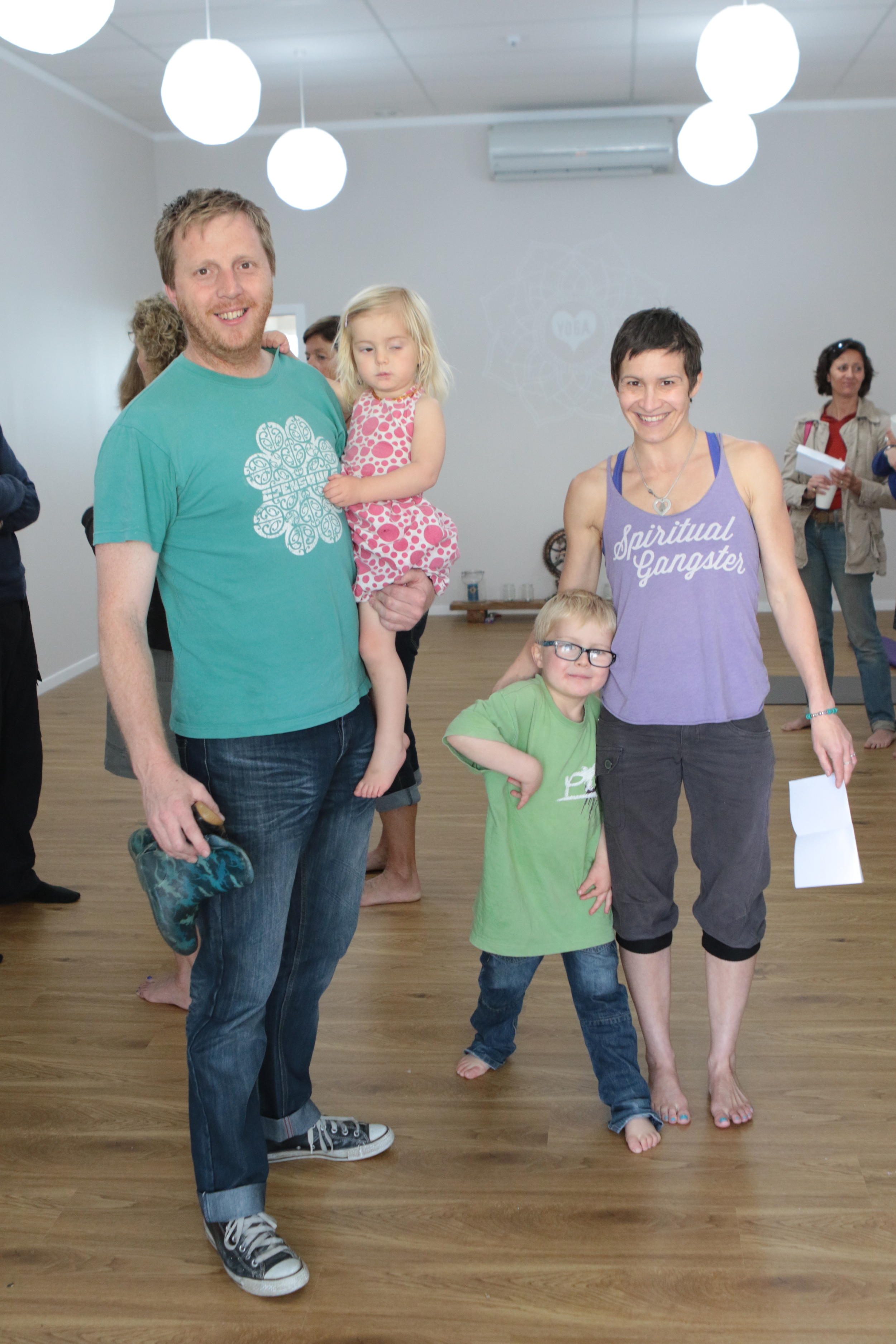At our opening, just some of my Love Yoga family :-)